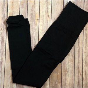 Black Fleece Lined Leggings Fits sizes: 12-20